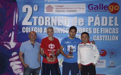 Ganadores Torneo de Pádel 2017