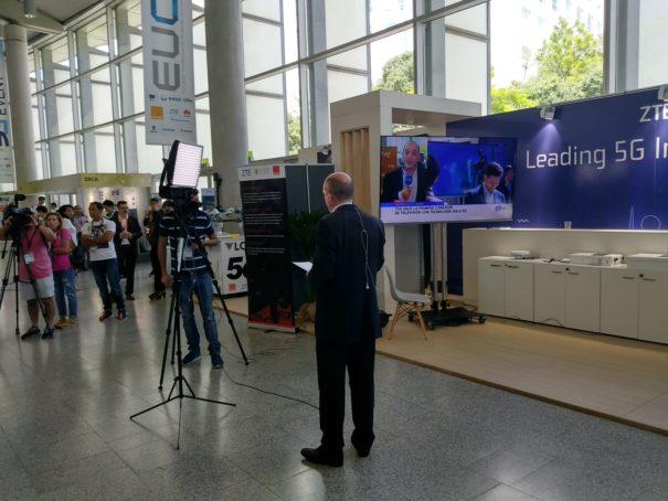 RTVE realiza la primera conexión de TV de España en 5G en el marco del EuCNC 2019 y 7th Global 5G Event